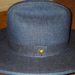 5f90c8a50490e Stetson Accessories - VINTAGE RUSTLER STETSON DENIM WOMEN WESTERN HAT